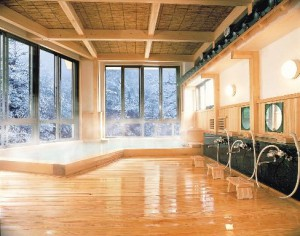 1QSMFP006雪の檜風呂